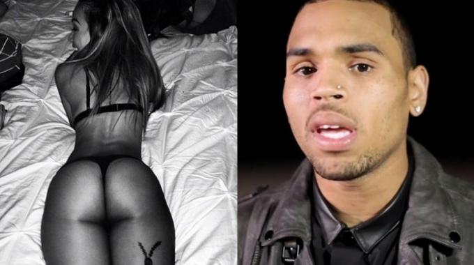 Chris Brown e Karrueche Tran  ritorno di fiamma con foto hot su    Chris Brown Leg Tattoos