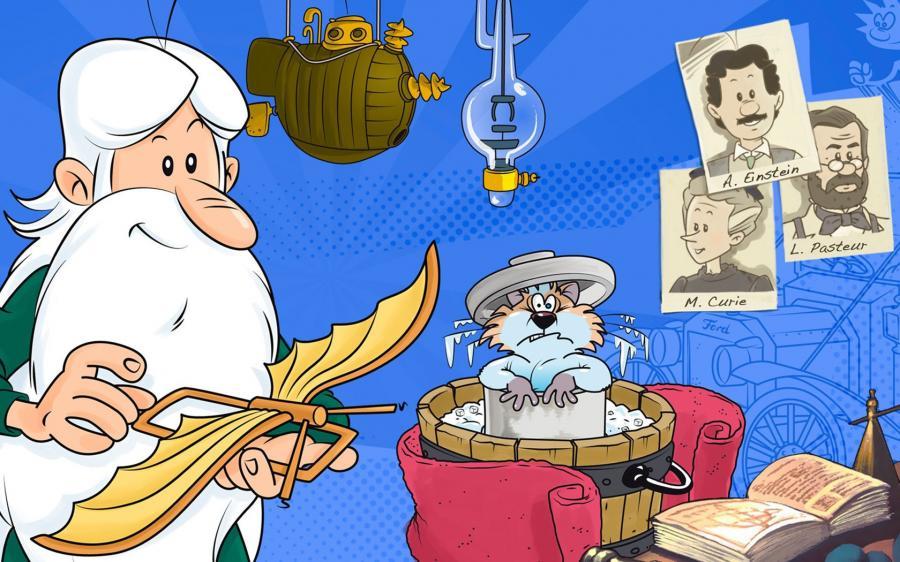 Cartoni animati grandi uomini per idee guida tv
