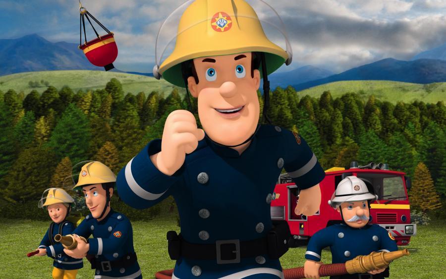 Cartone animato mascotte dei pompieri ratto scaricare vettori